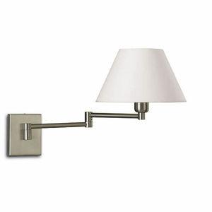 contemporary wall light / fabric / brass / steel