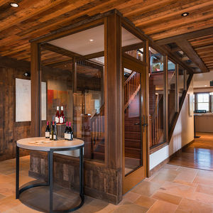 glass door profile / wooden / fire-rated