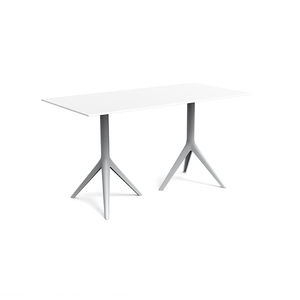 contemporary table / cast aluminum / extruded aluminum / polyethylene