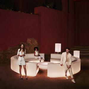 modular sofa / semicircular / contemporary / garden