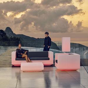 contemporary sofa / garden / fabric / polyethylene