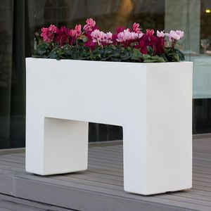 polyethylene planter / rectangular / illuminated / contemporary
