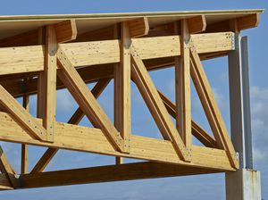 solid wooden truss / framing / commercial