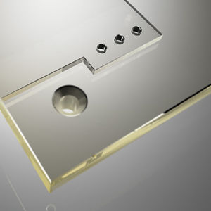 laminated glass panel / tempered / safety / fire protection