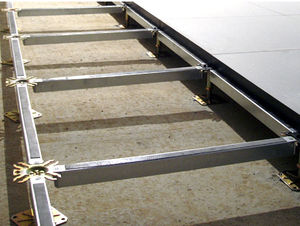metal raised access floor structure