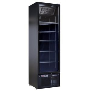 upright freezer / commercial / stainless steel / black