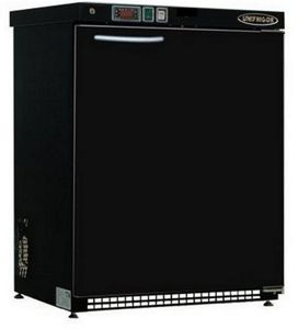 commercial refrigerator / upright / portable / black