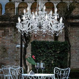 classic chandelier / crystal / methacrylate / LED