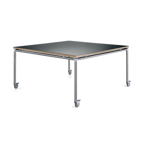 contemporary boardroom table / MDF / stainless steel / aluminum base