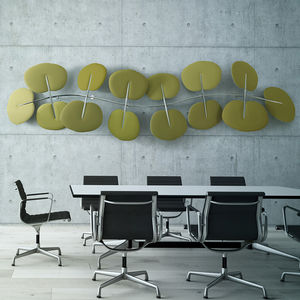 ceiling acoustic panel / wall-mounted / for interior / metal