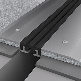 aluminum expansion joint / for floors / for building / drive-over