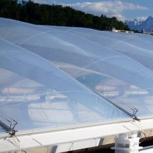 ETFE roof system / glass / aluminum / lightweight