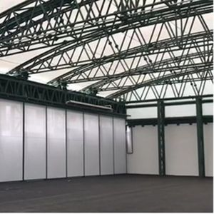 steel roof system / modular / curved / metal profile
