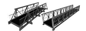 truss pedestrian bridge / steel / modular / pedestrian
