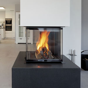 closed wood hearth / 4-sided / metal