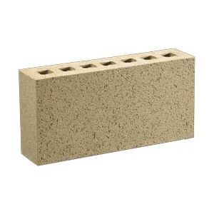 hollow brick / for masonry / embossed