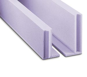 polystyrene formwork block / for flooring / concrete floor slab / insulating