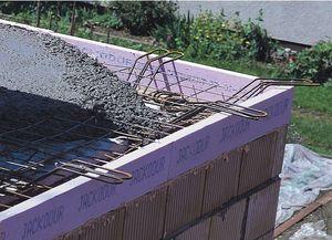 polystyrene formwork block / for flooring / insulating