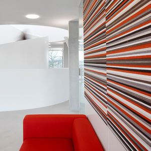 wall acoustic panel / for interior / fabric / colored