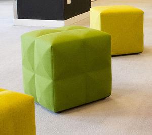 contemporary pouf / fabric / rectangular / square