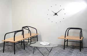 contemporary clocks / analog / wall-mounted / polystyrene