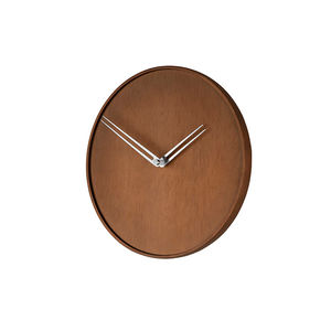 contemporary clocks / analog / wall-mounted / walnut