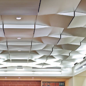 metal suspended ceiling / panel / decorative / with relief