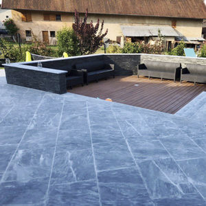 marble paver / pedestrian / brushed / outdoor