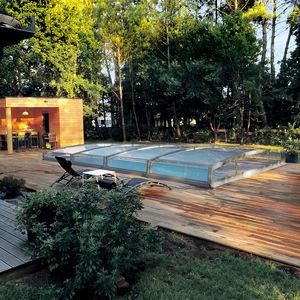 low swimming pool enclosure