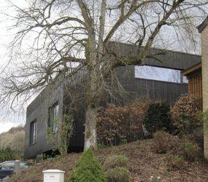 prefab house / duplex / contemporary / solid wood