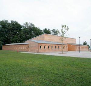 prefab building / solid wood / kindergarten / contemporary