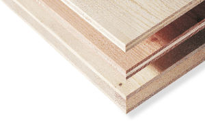 glue-laminated wood structural panel / for roofs / for load-bearing walls / wall