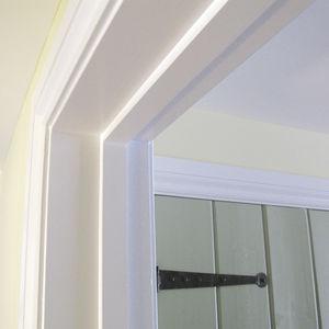 wooden door profile / security