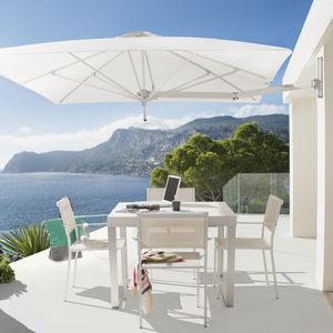 commercial parasol / Sunbrella® / anodized aluminum / wind-resistant