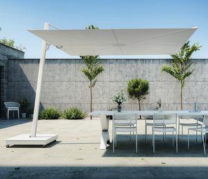 side post parasol / commercial / Sunbrella® / aluminum