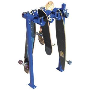 public space skateboard rack