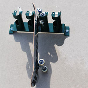 public space skateboard rack