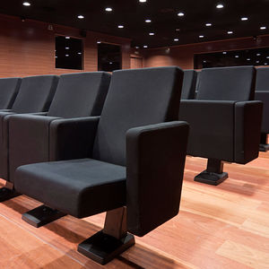 contemporary auditorium seating / fabric / polyurethane / folding