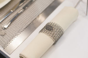 stainless steel napkin ring / commercial / for domestic use