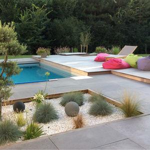 poolside tiles / floor / concrete / matte