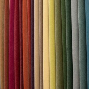 curtain fabric / plain / FR polyester / velvet