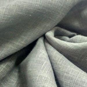 curtain fabric / plain / linen / washable