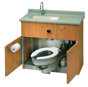 stainless steel toilet / for public washroom