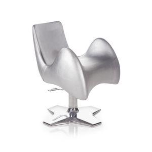 original design beauty salon chair / polyurethane / vinyl / central base