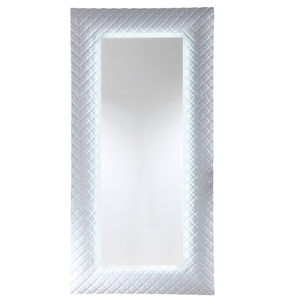wall-mounted mirror / LED-illuminated / contemporary / rectangular