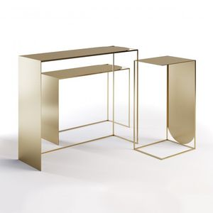 table-type display rack / steel / for hairdressers