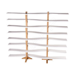 beauty product display rack / wooden / for hairdressers