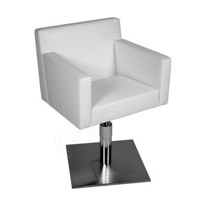 contemporary beauty salon chair / fabric / leather / stainless steel