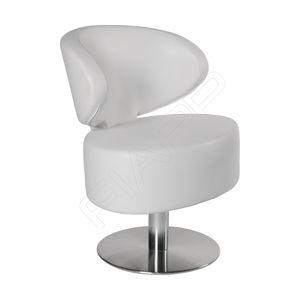 chromed metal beauty salon chair