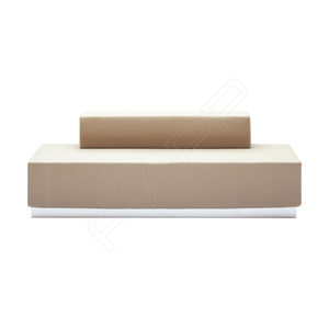 modular upholstered bench / contemporary / leather / wooden